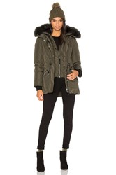 Mackage Katryn Asiatic Raccoon Fur Coat Army