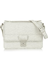 3.1 Phillip Lim The Pashli Mini Messenger Textured Leather Shoulder Bag White