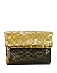 La Regale Mesh Foldover Clutch Gold