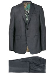 Etro Classic Single Breasted Suit Grey