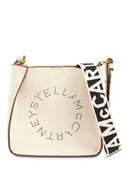 Stella Mccartney Hobo Logo Faux Leather Shoulder Bag White