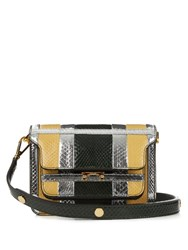 Marni Trunk Mini Python Cross Body Bag Green Multi