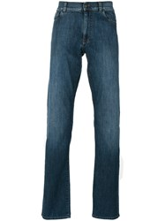 Canali Slim Fit Jeans Blue
