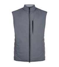 Armani Quilted Down Gilet Beige