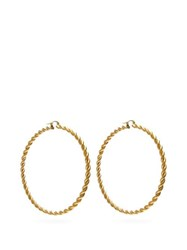 J.W.Anderson Jw Anderson Twisted Hoop Earrings Gold