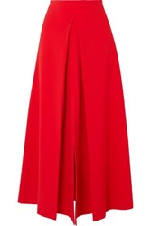 Awake A.W.A.K.E. Hattori Pleated Cady Skirt Red