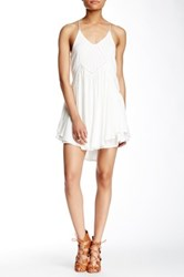 Romeo And Juliet Couture Racerback Ruffle Dress White