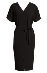 Bobeau Stretch Crepe Dress Black