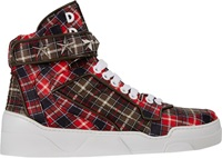 Givenchy Tartan Plaid Print Tyson Sneakers Multi Size 11