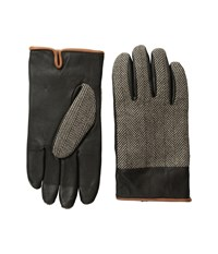 Original Penguin Woven Herringbone Leather Glove Brown Extreme Cold Weather Gloves