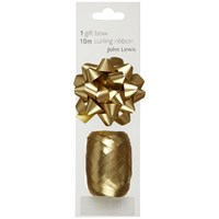 John Lewis Gift Bow And Curling Ribbon Set Gold
