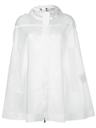 Moncler Boxy Transparent Raincoat White