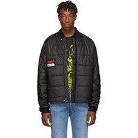 Heron Preston Black Style Dots Puffy Jacket