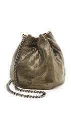 Whiting And Davis Soft Metal Bucket Bag Antique Gold