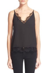 The Kooples Lace Trim Camisole Black