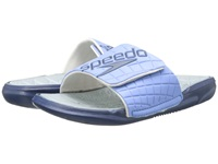 Speedo Exsqueeze Me Rip Slide Provence White Women's Slide Shoes Blue