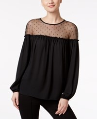 Msk Off The Shoulder Illusion Top Black