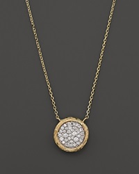 Bloomingdale's Pave Diamond Circle Pendant Necklace In 14K Yellow Gold .35 Ct. T.W.