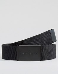 Carhartt Wip Woven Belt With Tonal Buckle Black