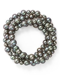 Bloomingdale's Dyed Gray Cultured Freshwater Pearl Four Row Stretch Bracelet 100 Exclusive