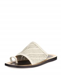 Rag And Bone Avril Woven Napa Leather Slide Sandal Black