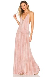 Indah Poet Maxi Dress Rose