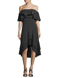 Walter Baker Patti Ruffled Off The Shoulder Dress Black