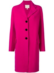 Marc Jacobs Single Breasted Coat Pink And Purple