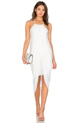 Bobi Black Luxe Liquid Jersey Tank Dress White