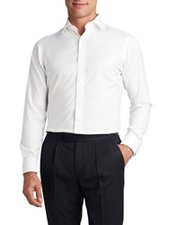 T.M.Lewin Men's Tm Lewin Non Iron White Twill Double Cuff Fitted Shirt White