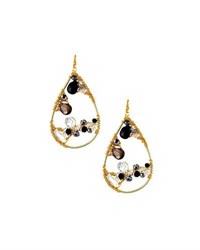 Nakamol Beaded Teardrop Earrings Black
