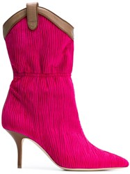 Malone Souliers Daisy Ankle Boots Pink And Purple