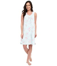 Carole Hochman Floral Chemise Cottage Blue Women's Pajama Green
