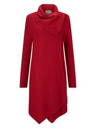 Phase Eight Bellona Waterfall Coat Red