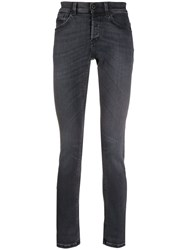 Dondup Faded Slim Fit Jeans Black