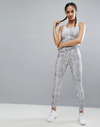 Missguided Active Snake Print Legging Gray