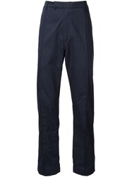 E. Tautz Pleated 'Pintuck' Trousers Blue