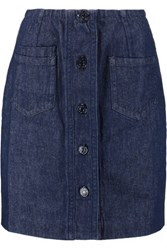 Sandro Jasmina Denim Mini Skirt Mid Denim