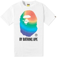 A Bathing Ape Rainbow By Bathing Tee White