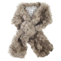 Chesca Faux Fur Slip Scarf Grey
