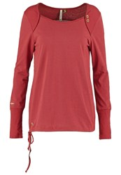 Ragwear Mike Long Sleeved Top Rosewood Red