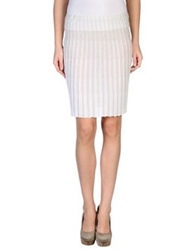 Have A Nice Day Knee Length Skirts Light Grey