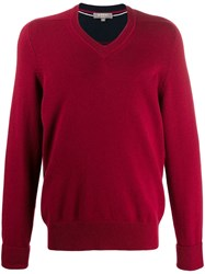 N.Peal The Mayfair V Neck Jumper Red