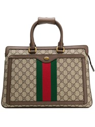 Gucci Ophidia Gg Rectangular Backpack Brown