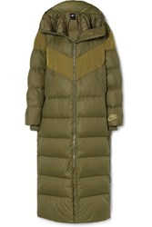 Nike Hooded Quilted Shell Down Coat Army Green