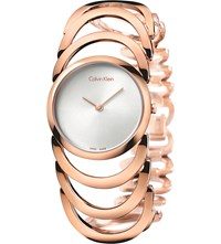 Calvin Klein Body Rose Gold Plated Watch White