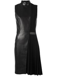 Thierry Mugler Leather Panel Dress Black