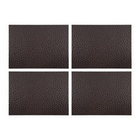 Amara Emu Effect Recycled Leather Coasters Set Of 4 Dark Chocolate