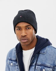 f3f0b015359 Tommy Hilfiger Pima Cotton Cashmere Beanie In Black