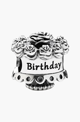 Pandora Design 'Happy Birthday' Bead Charm Sterling Silver